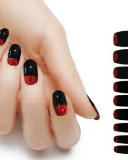 Black w red glitter (Gelz)
